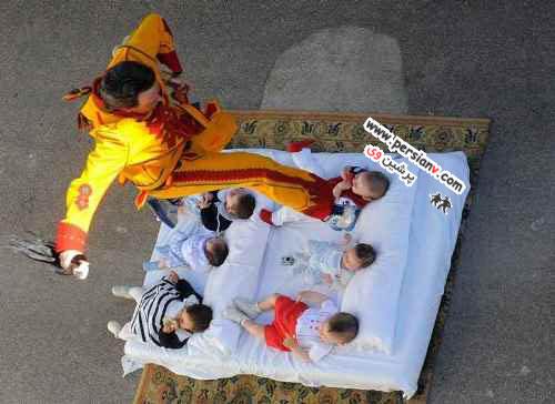 رسم خطرناکی برای دور کردن شیطان از کودکان عکس