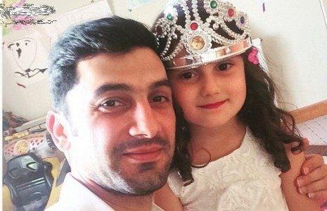 فرهاد ظریف در کنار دخترش