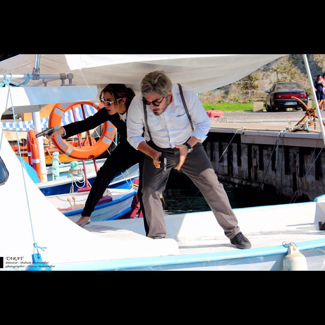 نیما شاهرخ شاهی با آماندا شلمان در فیلم تارات