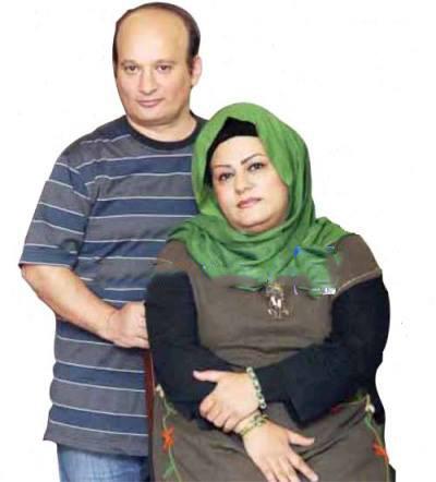 شهرام لاسمی ( قلقلی ) با همسرش