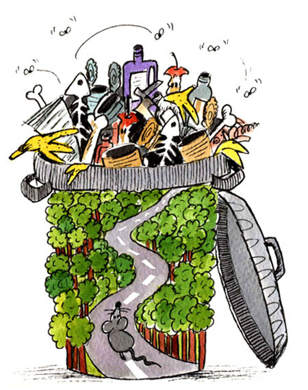 کاریکاتور جالب ، محیط زیست