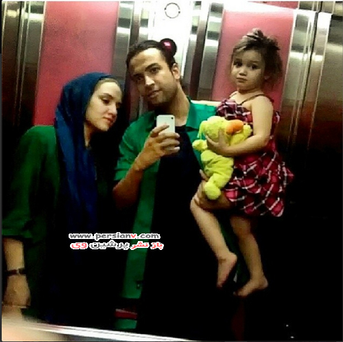 عکسی دیده نشده و غم انگیز از بنیامین بهادری و همسر مرحومش