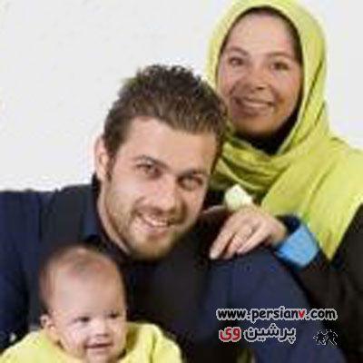 پژمان بازغی ، مادر ، همسر و فرزندش