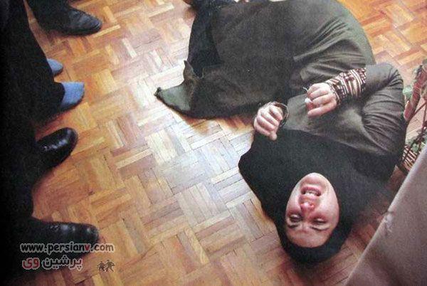 عکس های شهلا جاهد در صحنه های بازسازی قتل