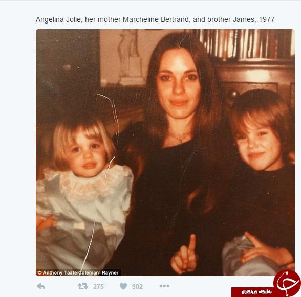عکس زیبا و دیدنی از کودکی آنجلینا جولی در کنار برادر و مادرش