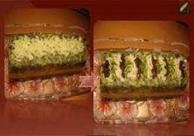 طرز تهیه پلو قالبی با گوشت و سبزیجات