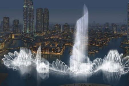 عکس : بزرگترین فواره جهان در حال ساخت در دبی