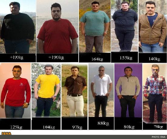 کاهش وزن 117 کیلویی جوان ایرانی