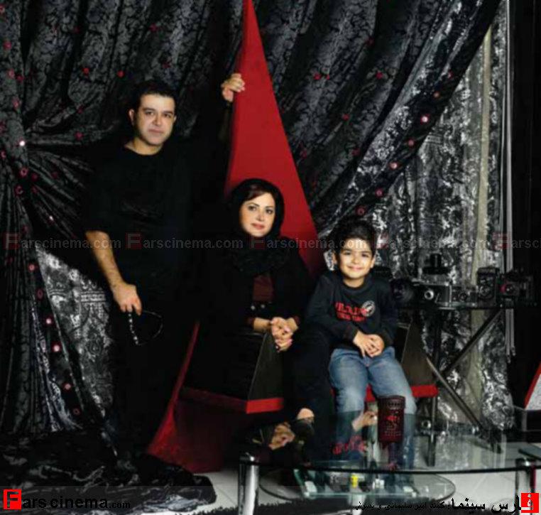 عکس : همراه کمند امیر سلیمانی و همسر و فرزندشان