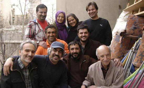 عکس یادگاری از بازیگران سریال پژمان