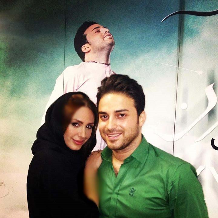 خواننده محبوب ایرانی متولد آلمان در کنار همسرش