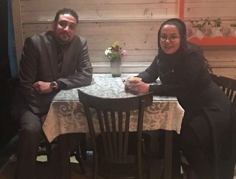 لاله صبوری به همراه همسرش در کنسرت کاوه آفاق