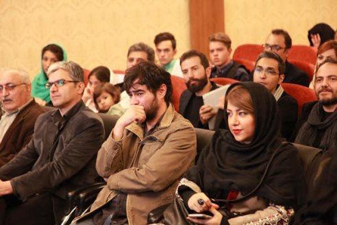 شهاب حسینی و همسرش در اکران خصوصی فیلم چهارشنبه