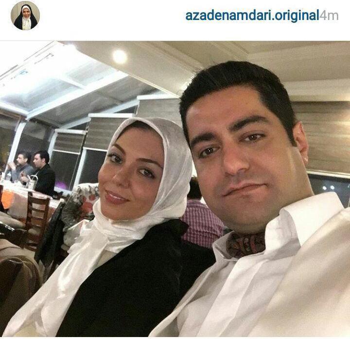 آزاده نامداری: من و همسرم بعد از 7 سال به هم رسیدیم! / ماجرای ازدواج آزاده نامداری با سجاد عبادی