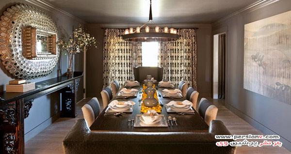 مدل اتاق غذاخوری های مجلل و لوکس و نحوه دکور به این سبک