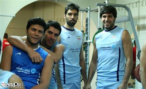 عکسهای جدید از والیبالیستهای تیم ملی والیبال