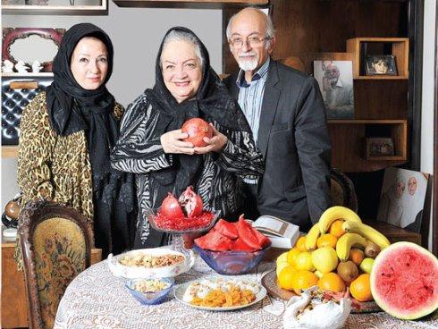 عکس های شهلا ریاحی به همراه پسر و عروسش در شب یلدا