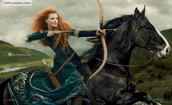 تصویر دیدنی: ستاره زن سینما در نقش دختر موقرمز انیمیشن «شجاع»