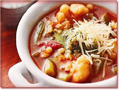 یک سوپ ایتالیایی خوشمزه