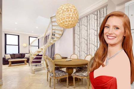 دکوراسیون خانه دولبلکس زیبای جسیکا چستین بازیگر زن معروف آمریکایی