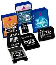 انواع مختلف حافظههای فلش