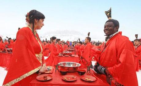 عروسی دسته جمعی از نوع چینی