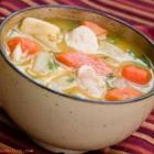 سوپ جوجه و ذرت با شیر ( موثر برای سرماخوردگی)