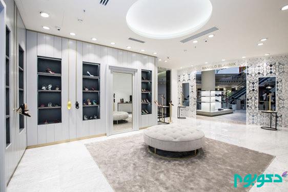طراحی داخلی لوکس یک فروشگاه کفش در مسکو