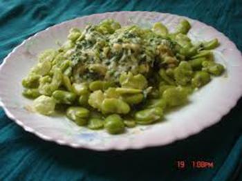طرز تهیه باقالا پخته با سبزیجات معطر