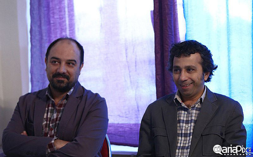عکس بازیگران در نشست خبری سریال ما فرشته نیستیم