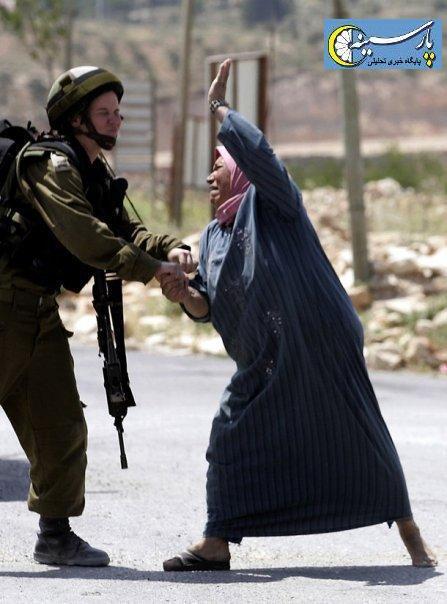 عکس: کتک زدن سرباز اسرائیلی توسط زن فلسطینی