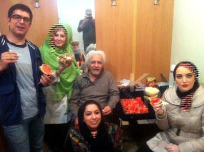 عکس :بهنوش طباطبایی و همسرش مهدی پاکدل در شب یلدا