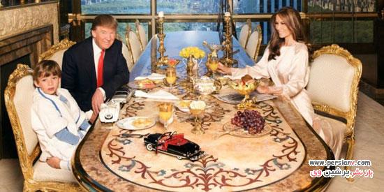 داخل آپارتمان های لوکس و خیره کننده دونالد ترامپ