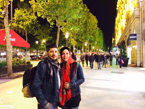 فلور نظری به همراه پسرش در پاریس