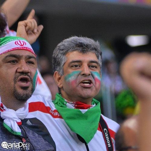 بازیگران ایرانی در بازی ایران با نیجریه در جام جهانی ۲۰۱۴ برزیل  تصاویر