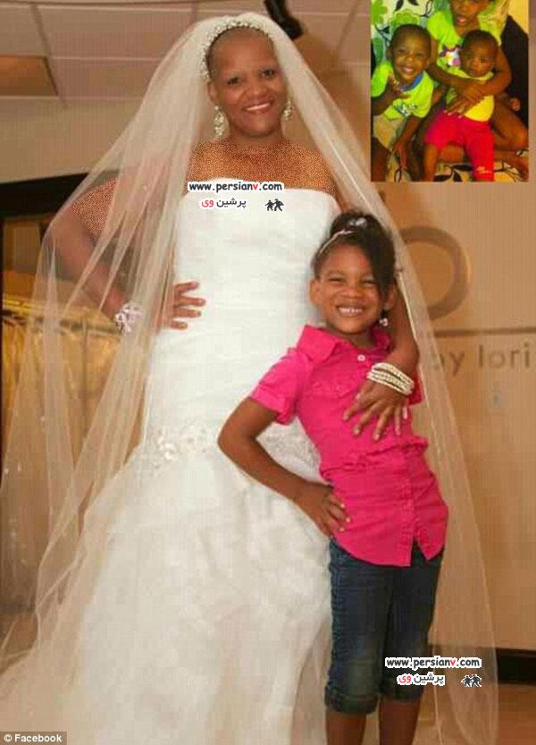 زن سرطانی در لباس عروس رویایی اش