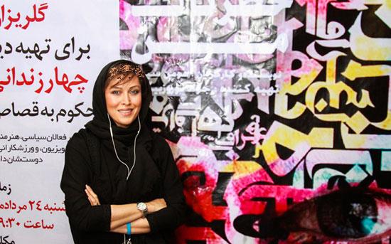 مهتاب کرامتی و عباس غزالی در اکران خیریه یک فیلم