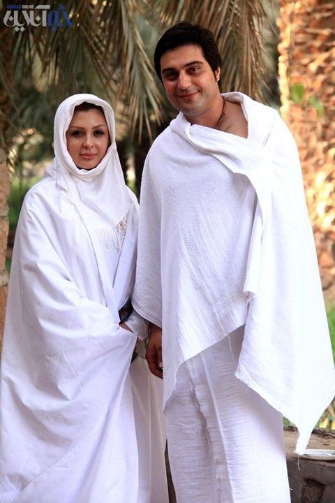 عکس متفاوت نیوشا ضیغمی و همسرش در خارج از کشور