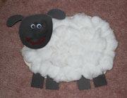آموزش کاردستی گوسفند پنبهای