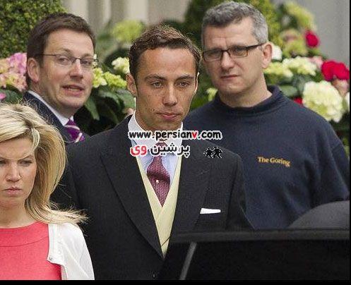مستر بین و همسرش و سایر مهمانان در عروسی نوه ملکه انگلیس