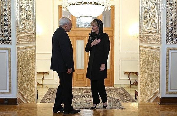 نحوه احترام خانم وزیر به محمدجواد ظریف