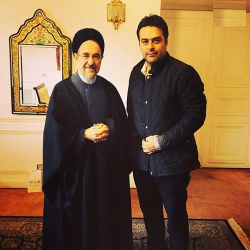 آتیلا حجازی در کنار سید محمد خاتمی