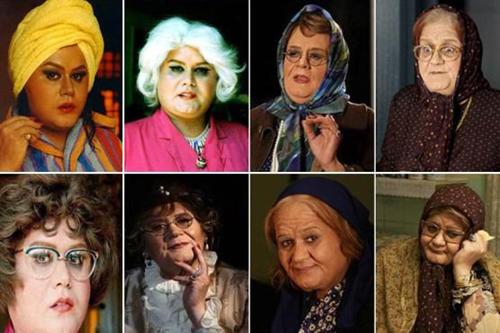 بازیگران مردی که در نقش زن ظاهر شدند