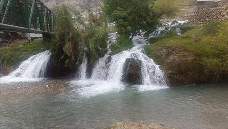 آبشارهای زیبای آرپناه با طبیعتی بهشت گونه در خوزستان