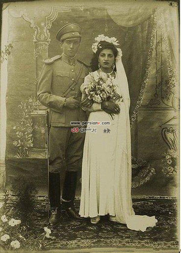 عکس فوق العاده دیدنی : 110 سال پیش و یک عـــــروس و داماد ...ببین