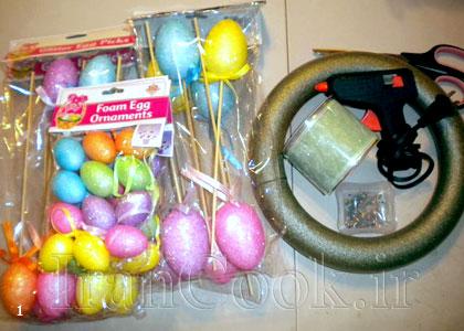 آموزش ساخت حلقه تخم مرغ رنگی  تصاویر