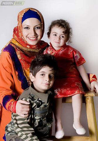 عکس های خانوادگی strongخاله شادونه با 2 فرزندش /strong