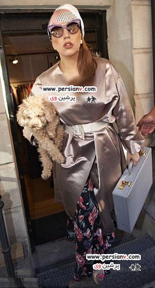 لباس جنجالی دیگری از لیدی گاگا عکس