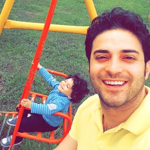 زندگی شخصی بابک جهانبخش به همراه همسر و پسرش آرتا