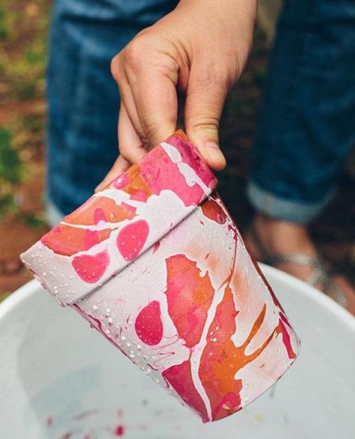 رنگ و لعاب دادن به گلدان